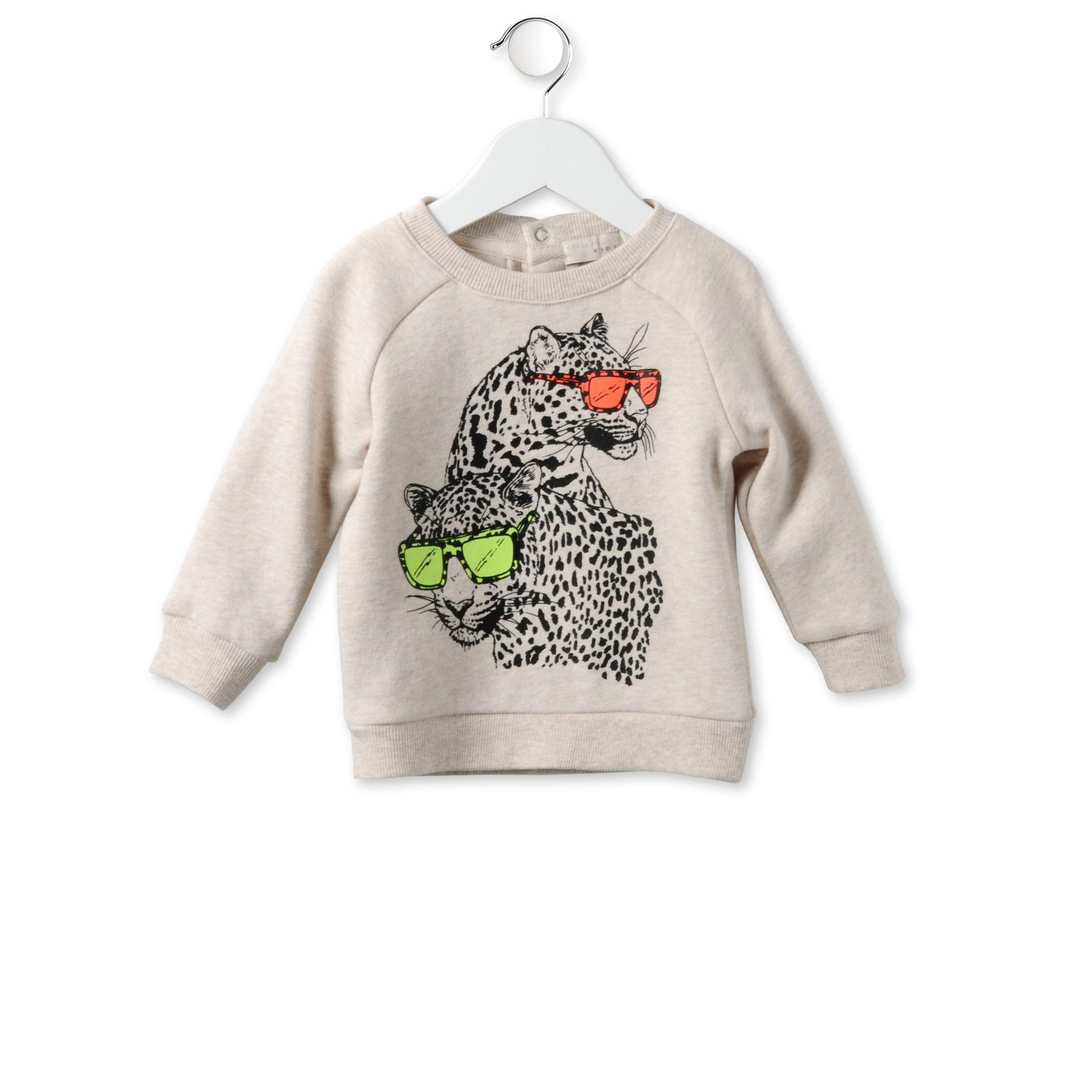 806079510b75f Sweat Shirt Billy Crème Avec Imprimé Léopard - Stella Mccartney Kids ...