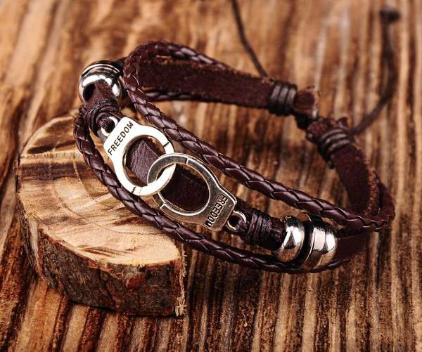 Handcuff Leather Bracelet