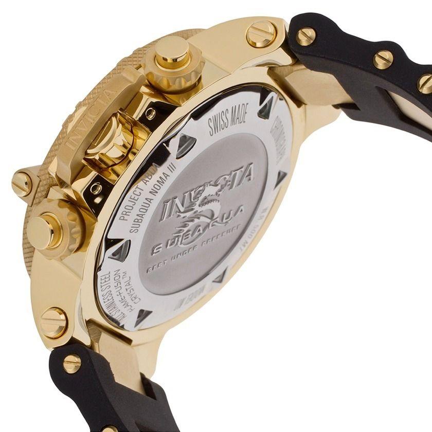 c38fbd1d801 Relógio Masculino Invicta Subaqua Dourado 5514 Completo - R  849