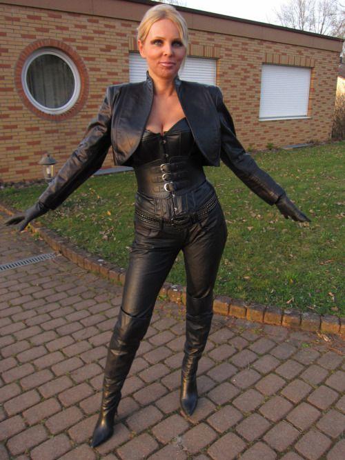 leather milf black