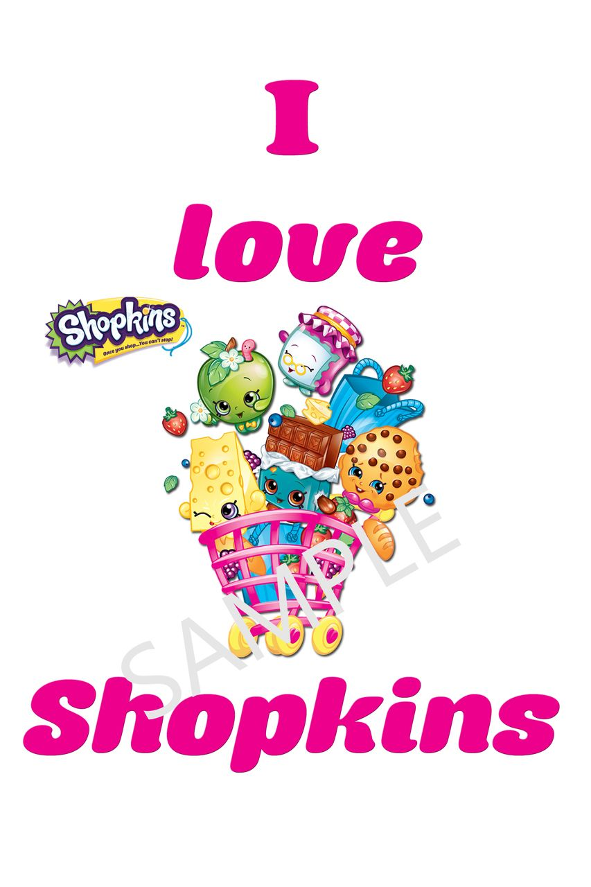 Design t shirt transfer template - I Love Shopkins Tshirt Iron On Transfers