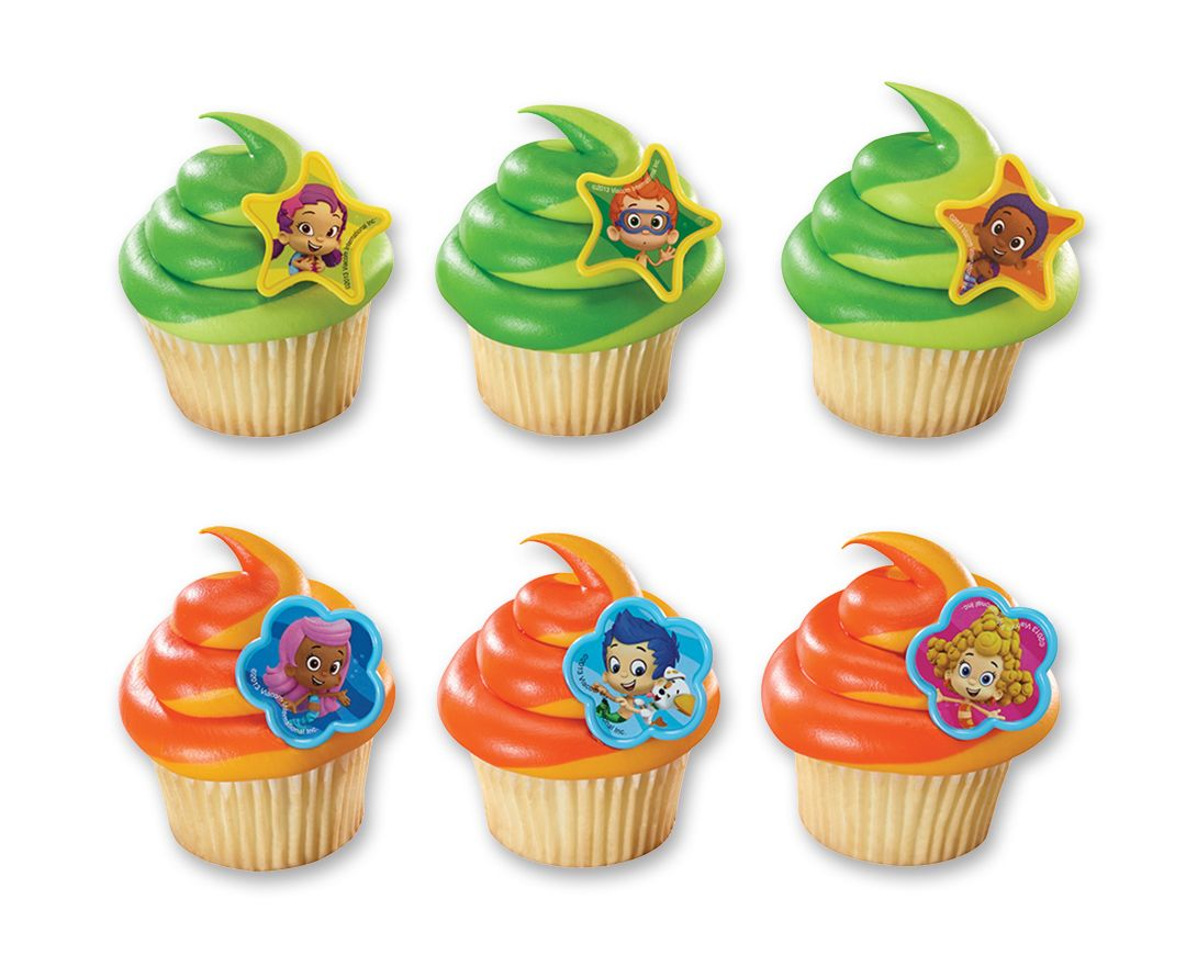 Bubble Guppies Gil, Molly & Gang Cupcake Rings