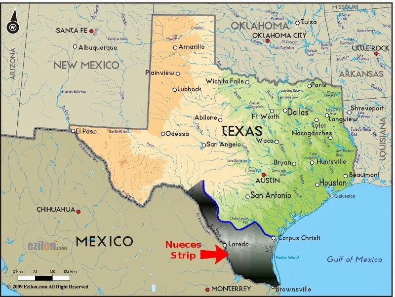 Rio Grande River Texas Map Prairie Rose Publications: Taming the Nueces Strip | Texas map