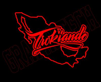 Sponsored Ebay Trokiando Mexico Red Decal For Window Car Outdoor Vinyl 8 Custom Trucks Digital Graphic Design Cute Love Memes