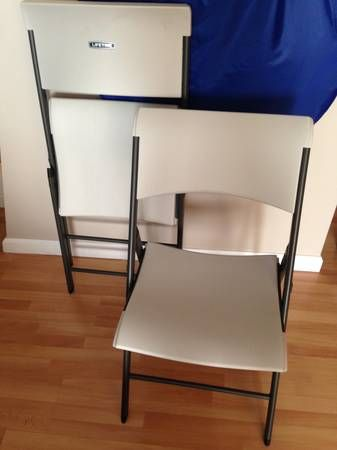 Lifetime Folding Chair 15 Each 4 Chairs Mint Condition Used