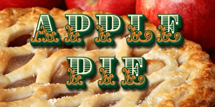 Apple Pie font download   Fonts   Apple pie, Pie, Apple