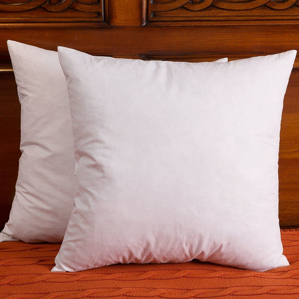 26X26 Pillow Insert Set Of 2 Down And Feather Throw Pillow Insert The Fabric Is Cotton