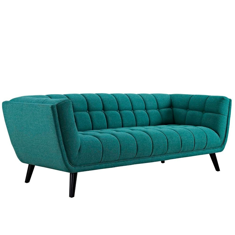 Best Bestow Upholstered Fabric Sofa Teal Modway Blue Sofa 640 x 480