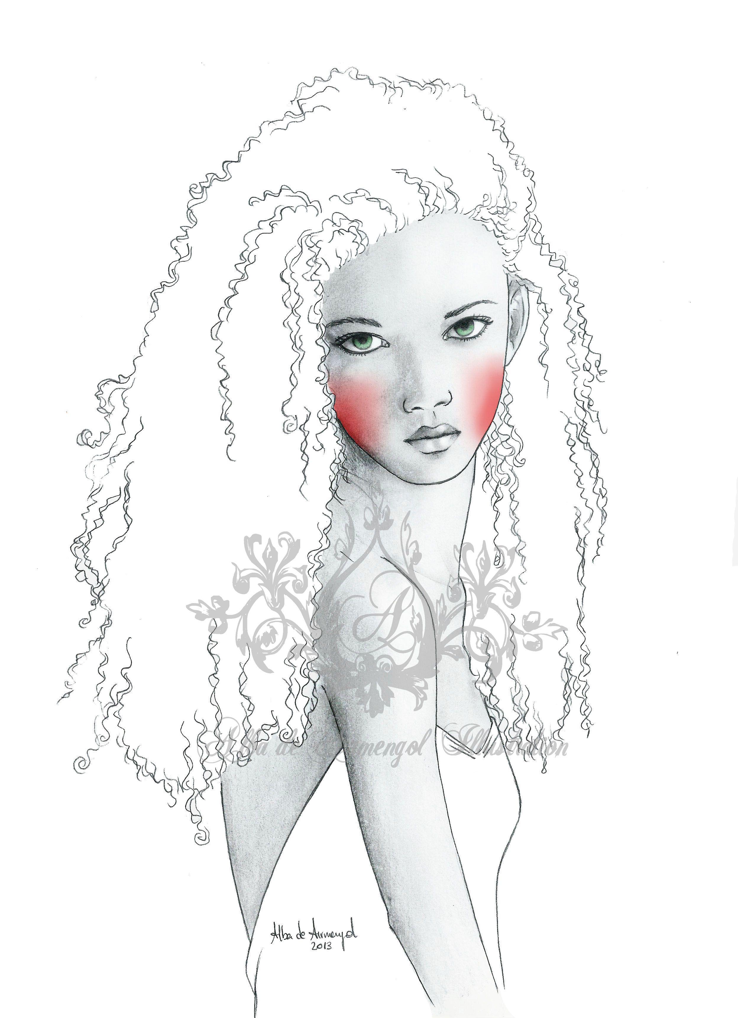 alba de armengol illustration