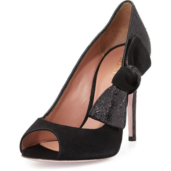 Red Valentino Suede Peep-Toe Pumps great deals online cheap sale huge surprise UeTJ580