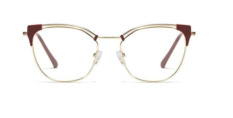 Cat Ear Simple Metal Glasses Frames Men Women Optical Fashion Computer Glasses