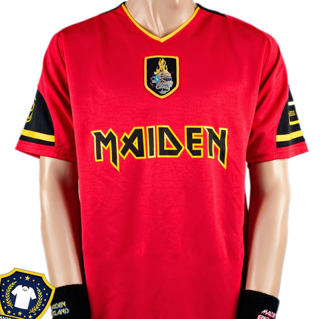 27ac3d5f181 Camisas de futebol do Iron Maiden para a Copa do Mundo 2014 ...