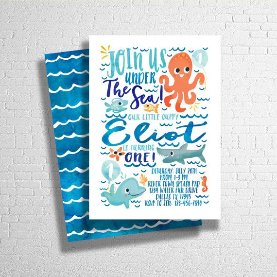 Under Sea Birthday Invitation