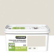 Peinture Blanc Lin 2 Luxens Couleurs Interieures 2 5 L Couleur Interieure Decoration Salon Parement Mural