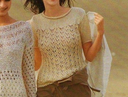 Lavori a maglia, crea una leggera t,shirt ai ferri