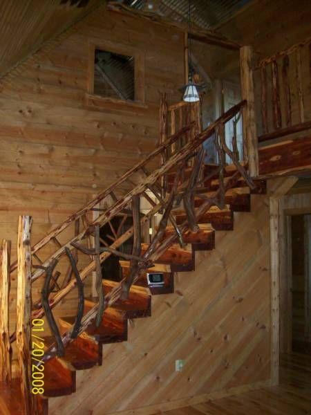 Handrailing 2 1 Cabinets 2 Cabinets 1 Log Furniture Hunting