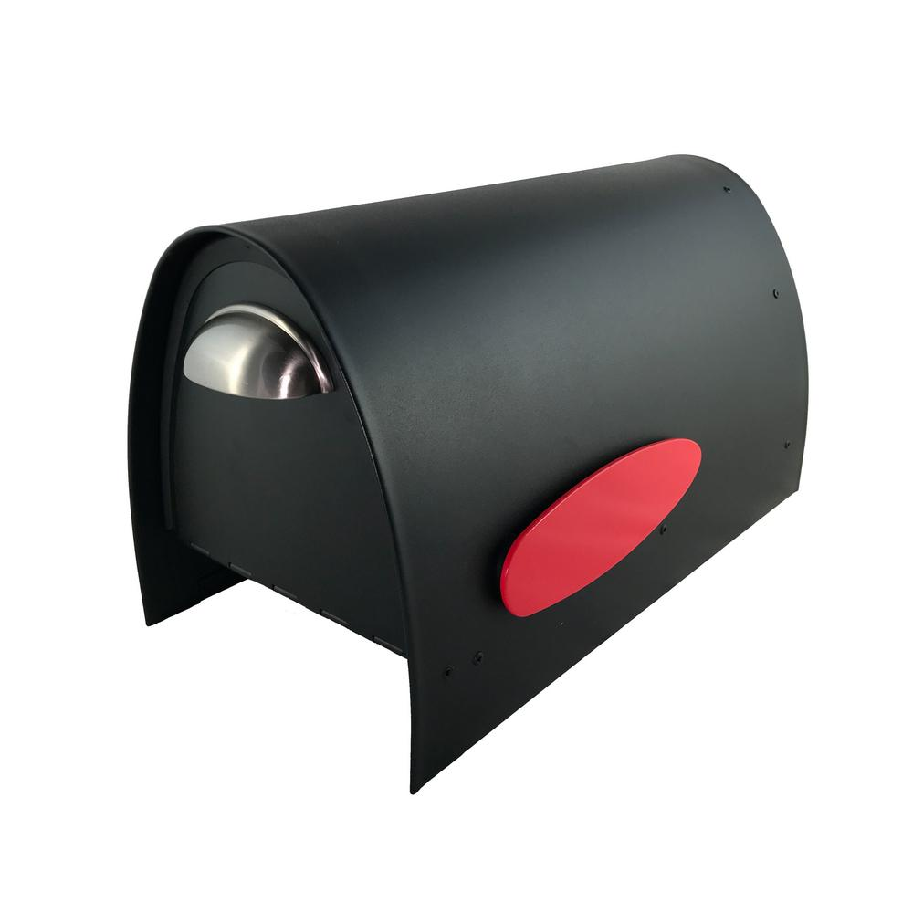 Spira Mailbox Spira Matte Black Powdercoated 316 Stainless Steel Post Mounted Non Locking Mailbox Spa M005blk The Home Depot In 2020 Mounted Mailbox Post Mount 316 Stainless Steel
