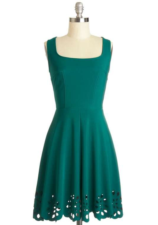Love the ModCloth Eyelet Getaway Dress in Forest on Wantering.