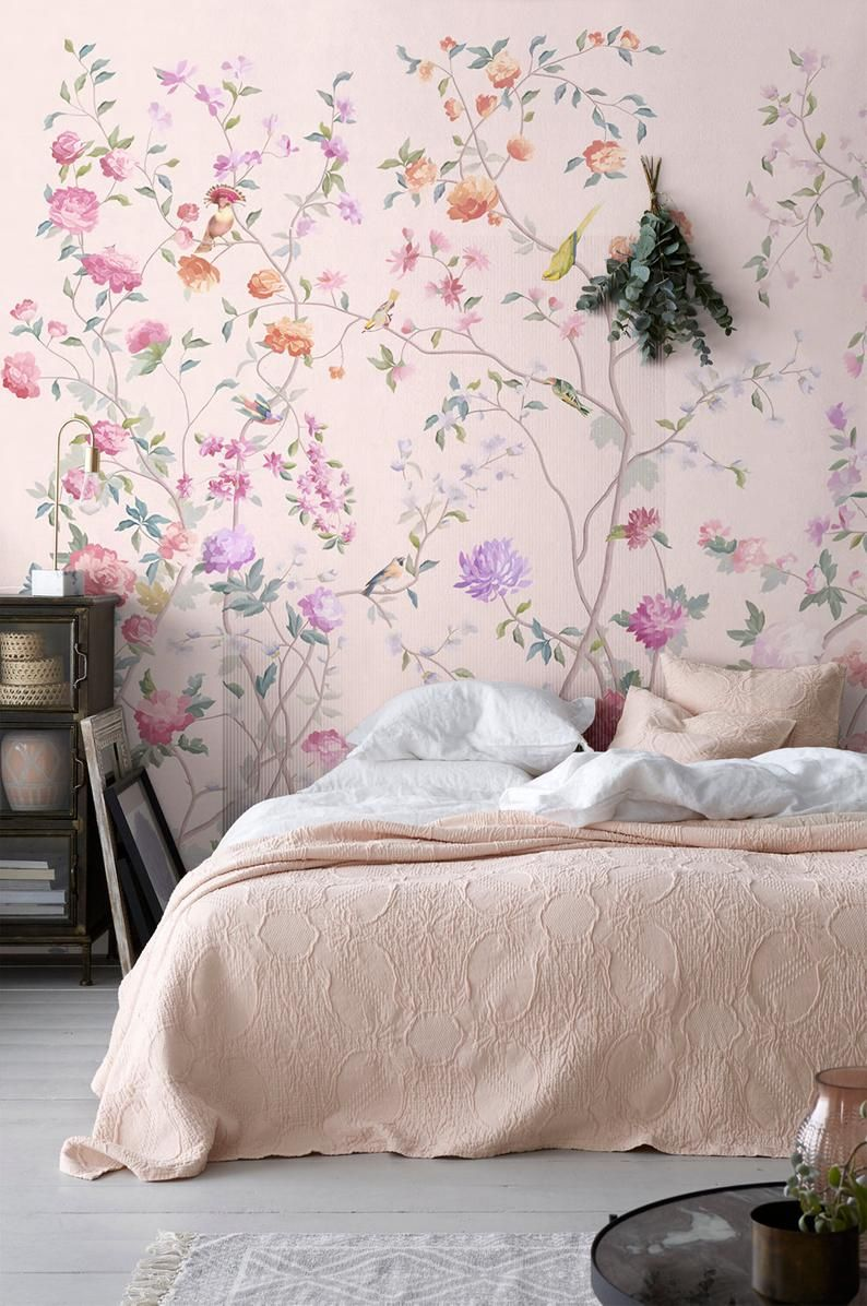 Chinoiserie Mural Wallpaper Repeat, Home Decor Wall Murals