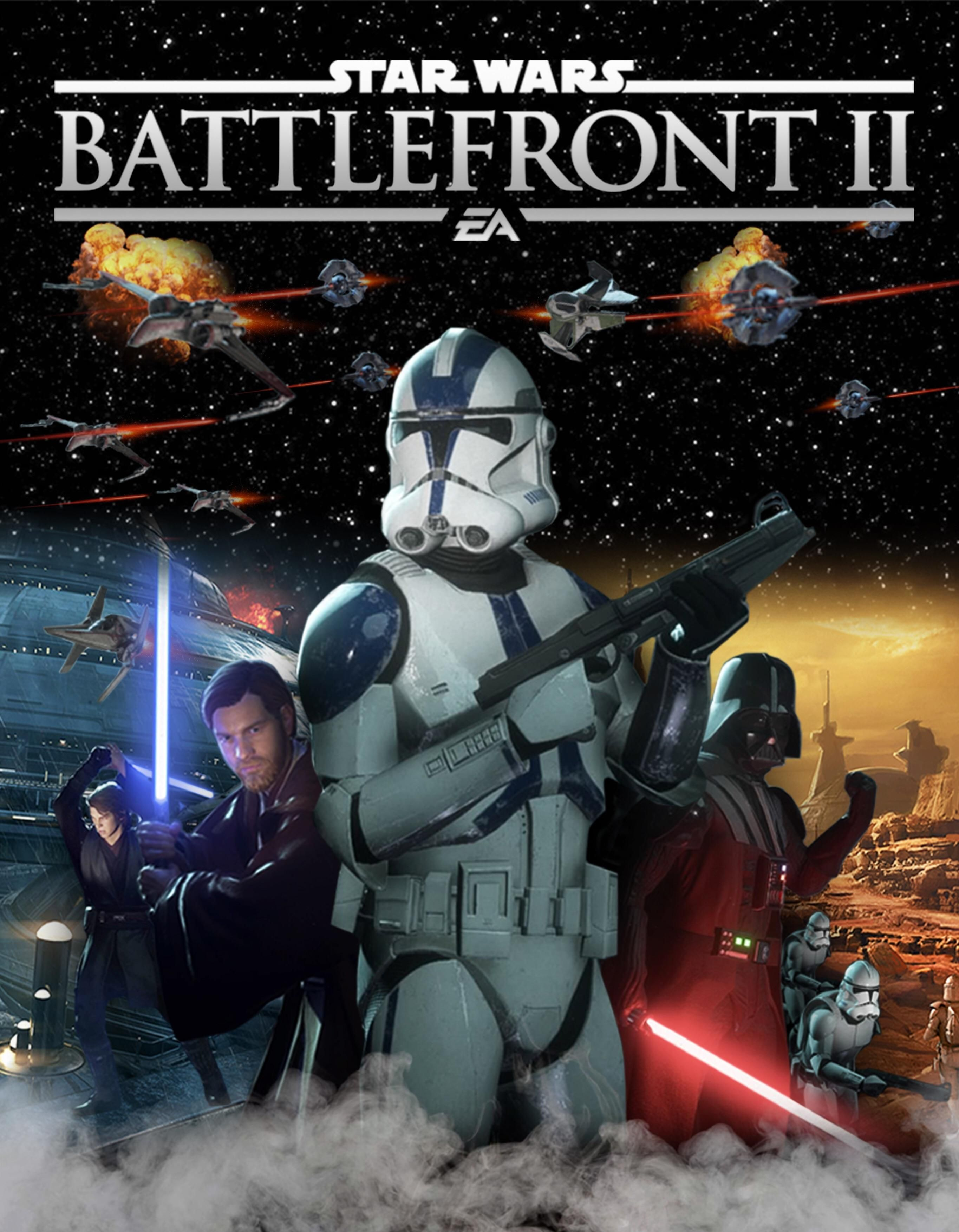 I Attempted To Recreate The Battlefront 2 2005 Cover Art Hope You All Enjoy Starwarsbattlefront Battlefront Star Wars Video Games Star Wars Battlefront