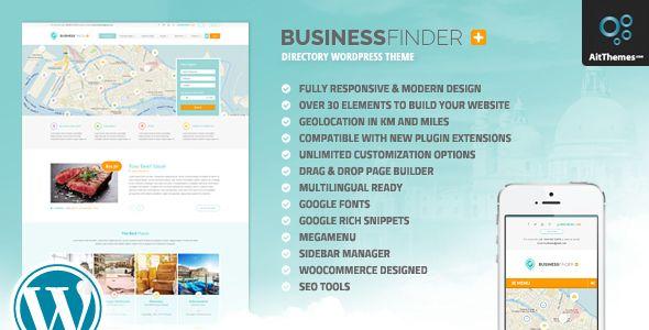 Business finder directory listing wordpress theme wordpress and business finder directory listing wordpress theme wajeb Gallery