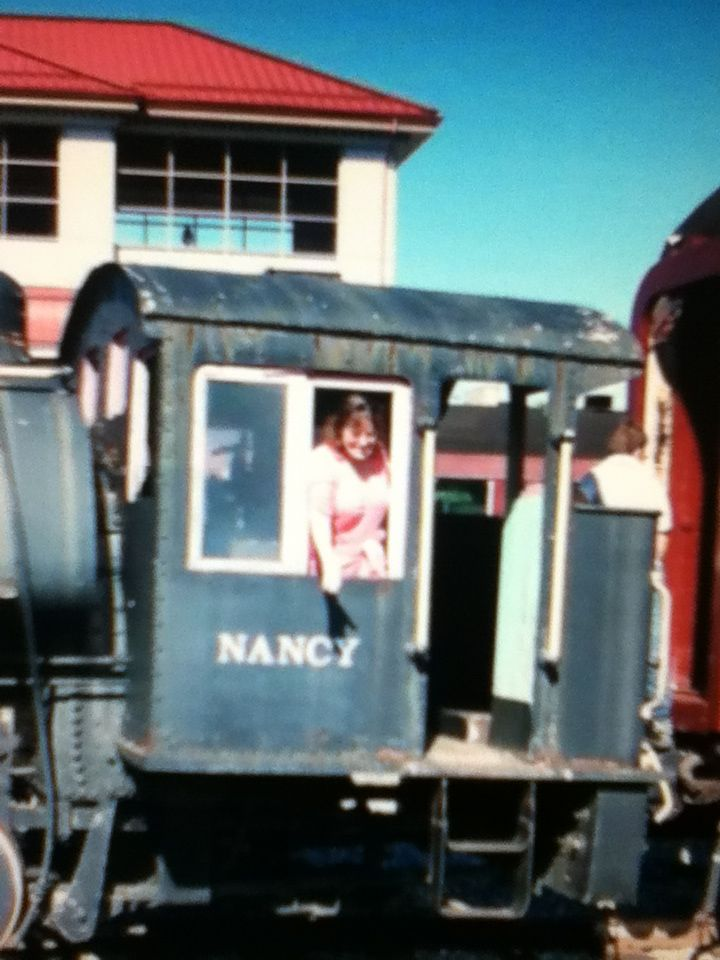 Susie at the train yard