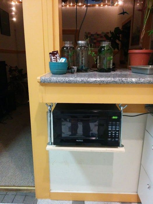 hanging microwave shelf hanging microwave microwave shelf clever kitchen storage on kitchen organization microwave id=13577