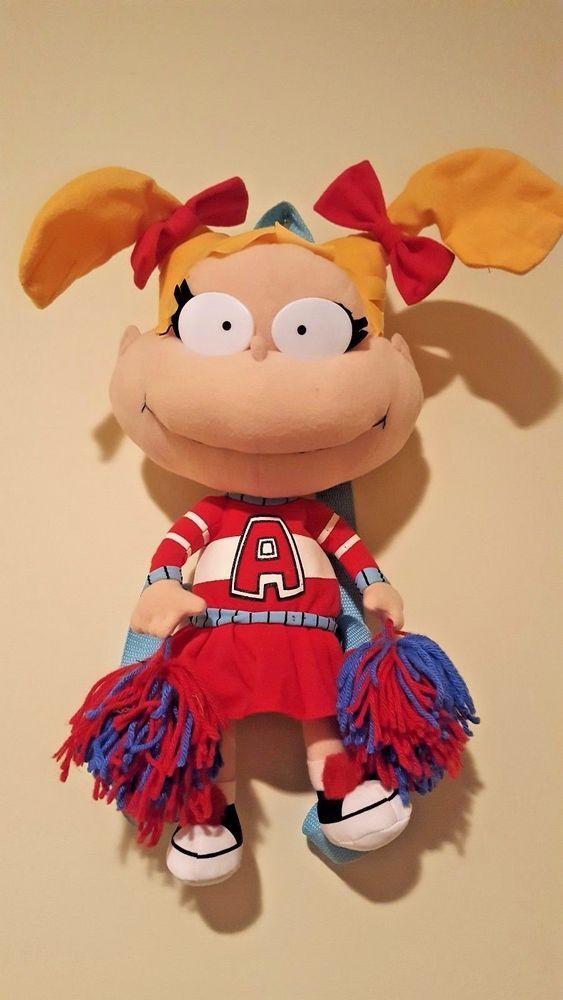 Nickelodeon Rugrats Angelica Cheerleader Plush doll Backpack Bag 90s Vintage  | eBay