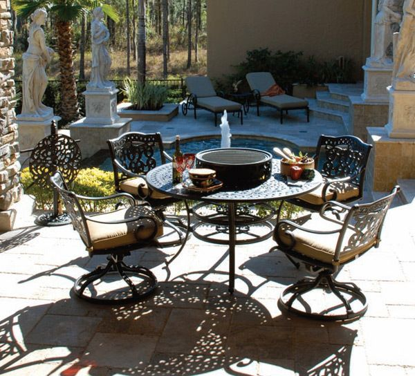 FIESTA 6PC ALL INCLUSIVE FIRE-PIT DINING SET at Overstock Furniture ...