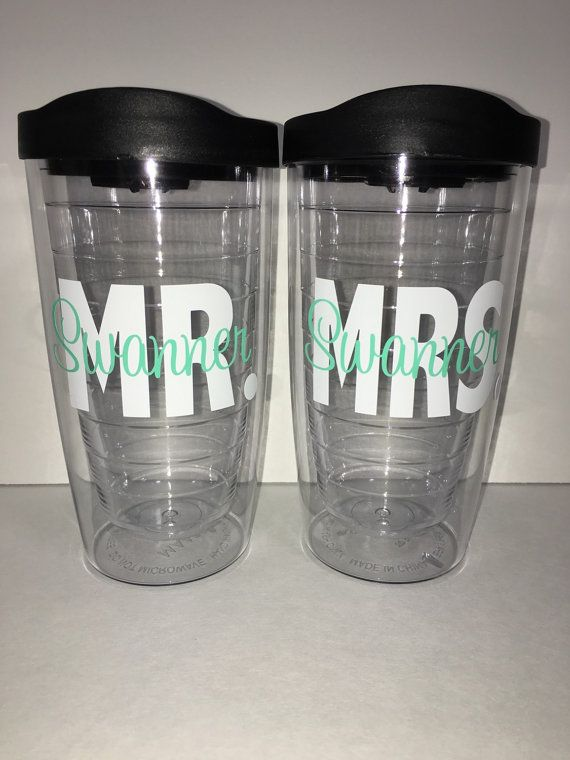 0a28658cc9c Mr. & Mrs. Tervis Style Wedding Tumblers by lollybellemonograms ...