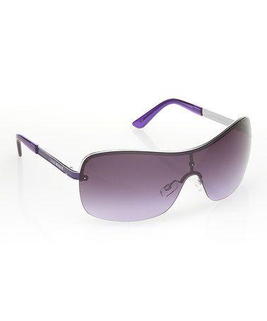 d059b1d36d Another great find on  zulily! Silvertone   Purple Shield Sunglasses   zulilyfinds.  16.99