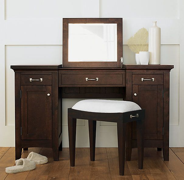 Espresso Dressing Table Or Vanities | Cartwright Vanity Dressing Table |  Espresso | Restoration Hardware