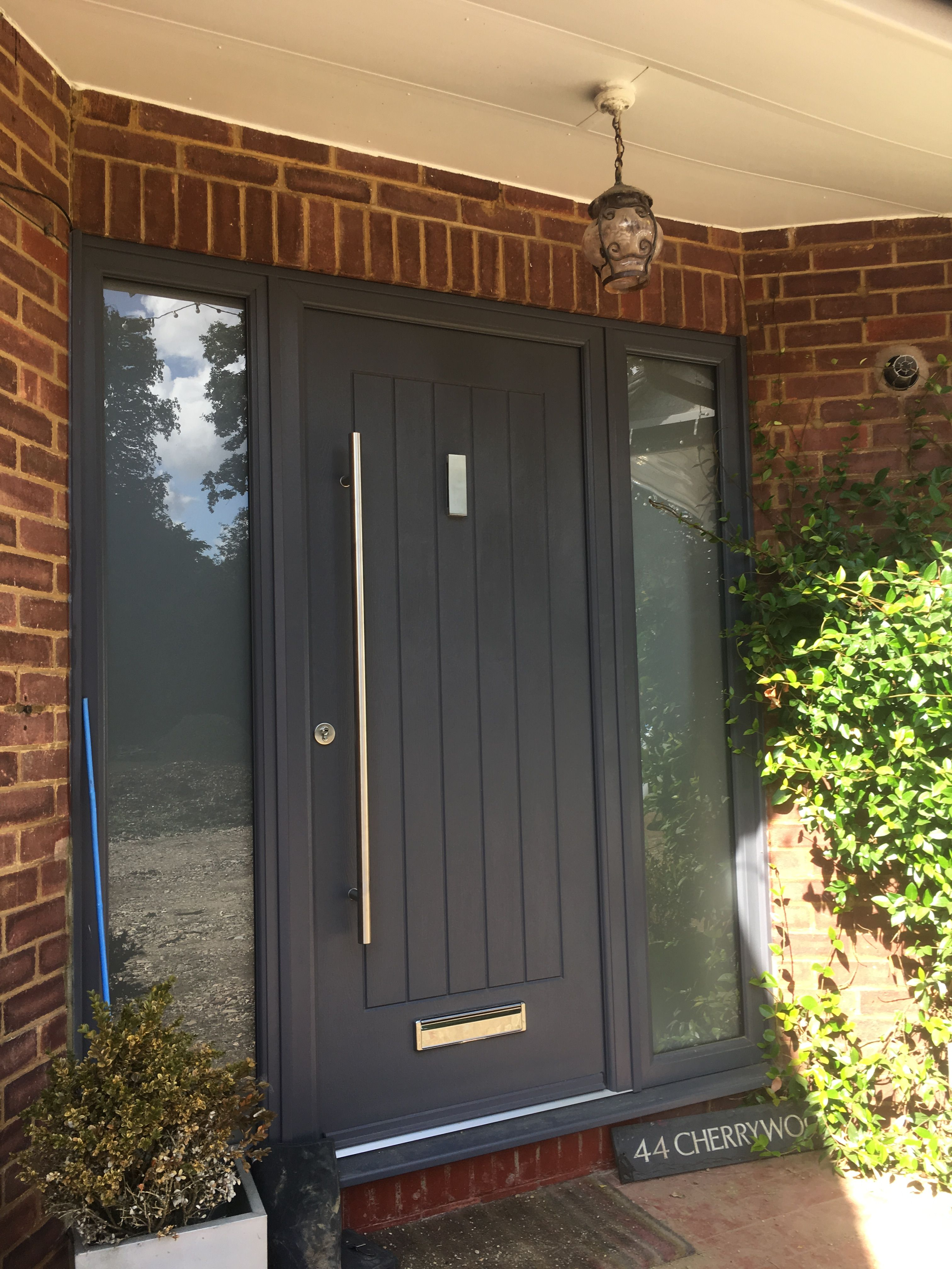 A Contemporary Anthracite Grey Indiana Rockdoor