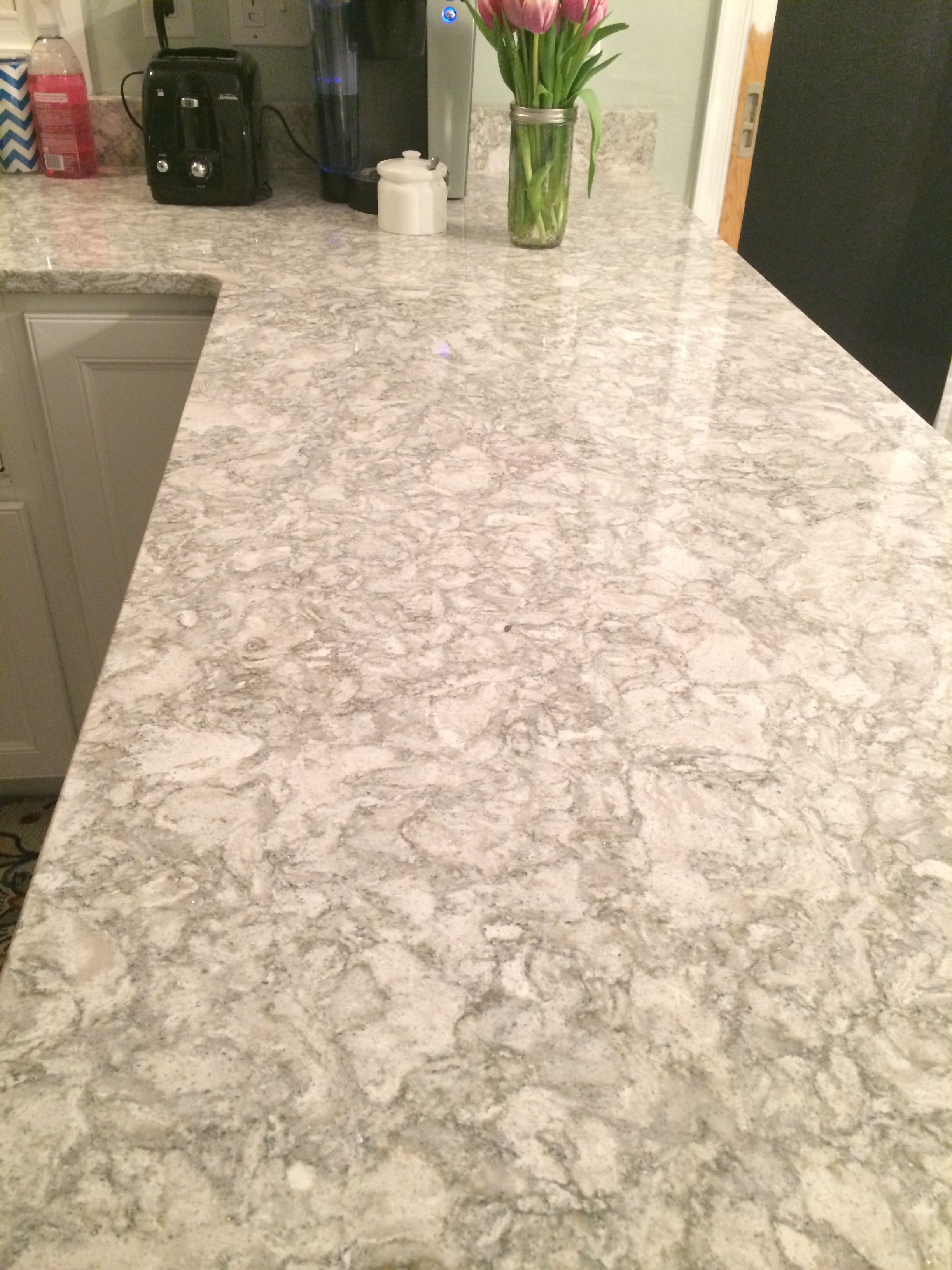 Cambria Berwyn Pictures Don T Do It Justice There Are Little Bits Of Sparkle That Don T Replacing Kitchen Countertops Quartz Kitchen Countertops Countertops