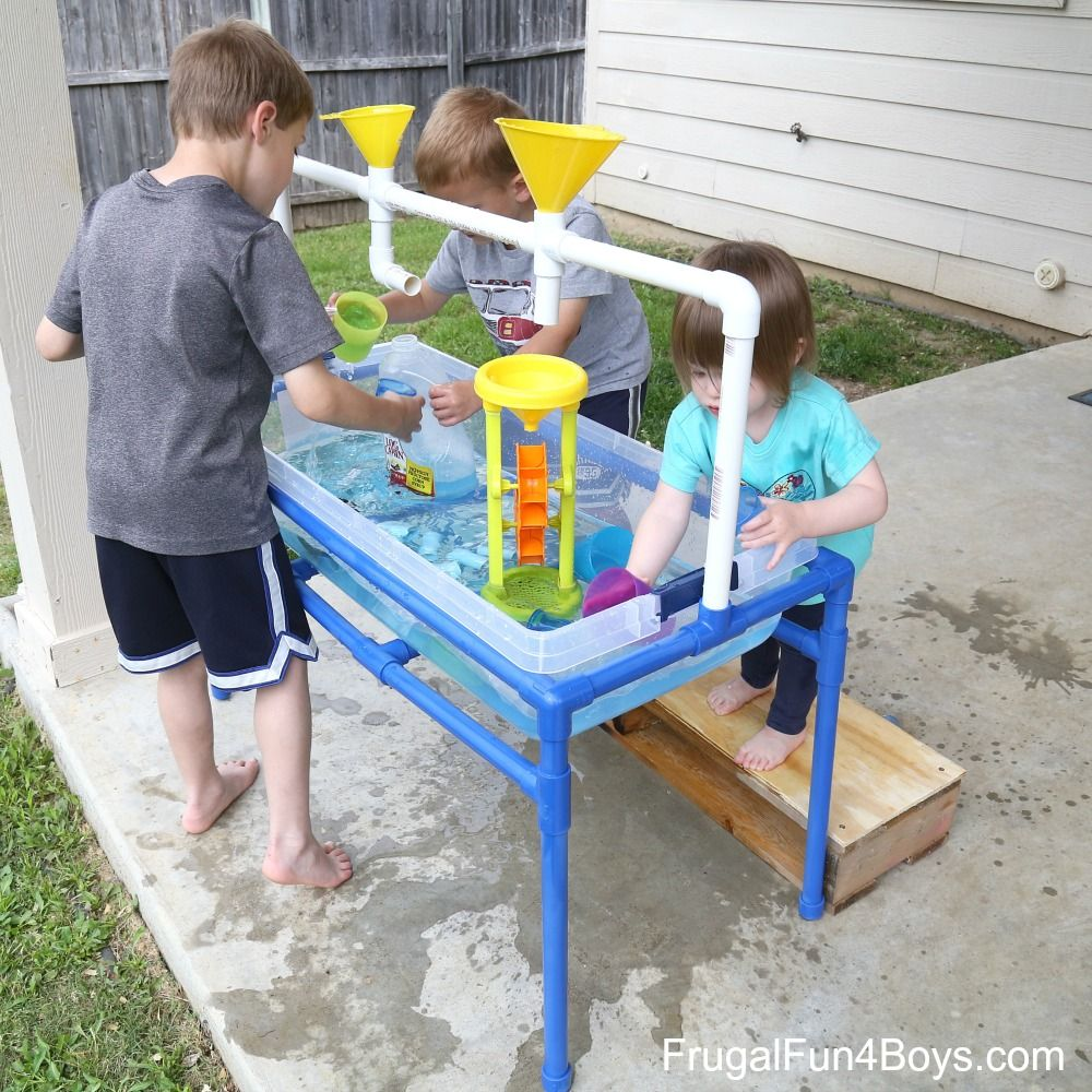 how to make a pvc pipe sand and water table frugal fun for boys