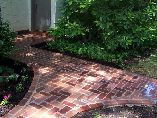 Wet Set Red Patio Brick Pathway Image