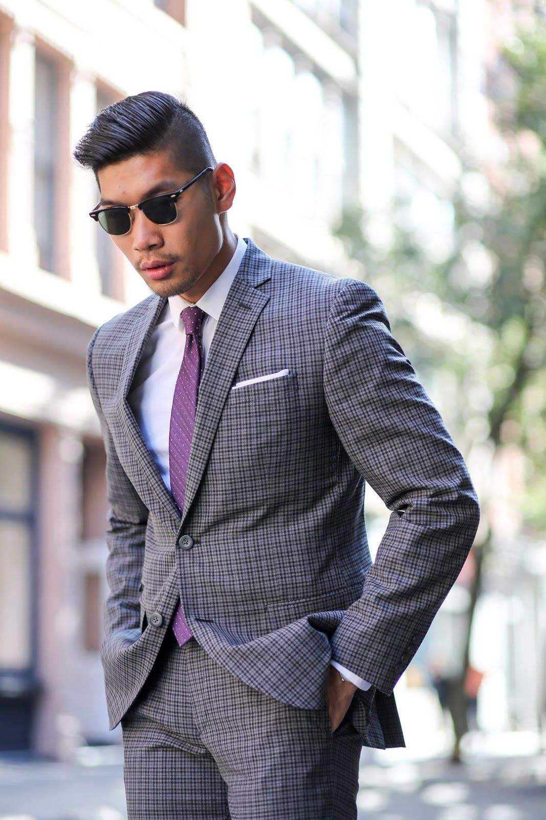 c696285c5f79 Charcoal Plaid Suit Two Ways | Men's Style | Plaid suit, Light grey ...
