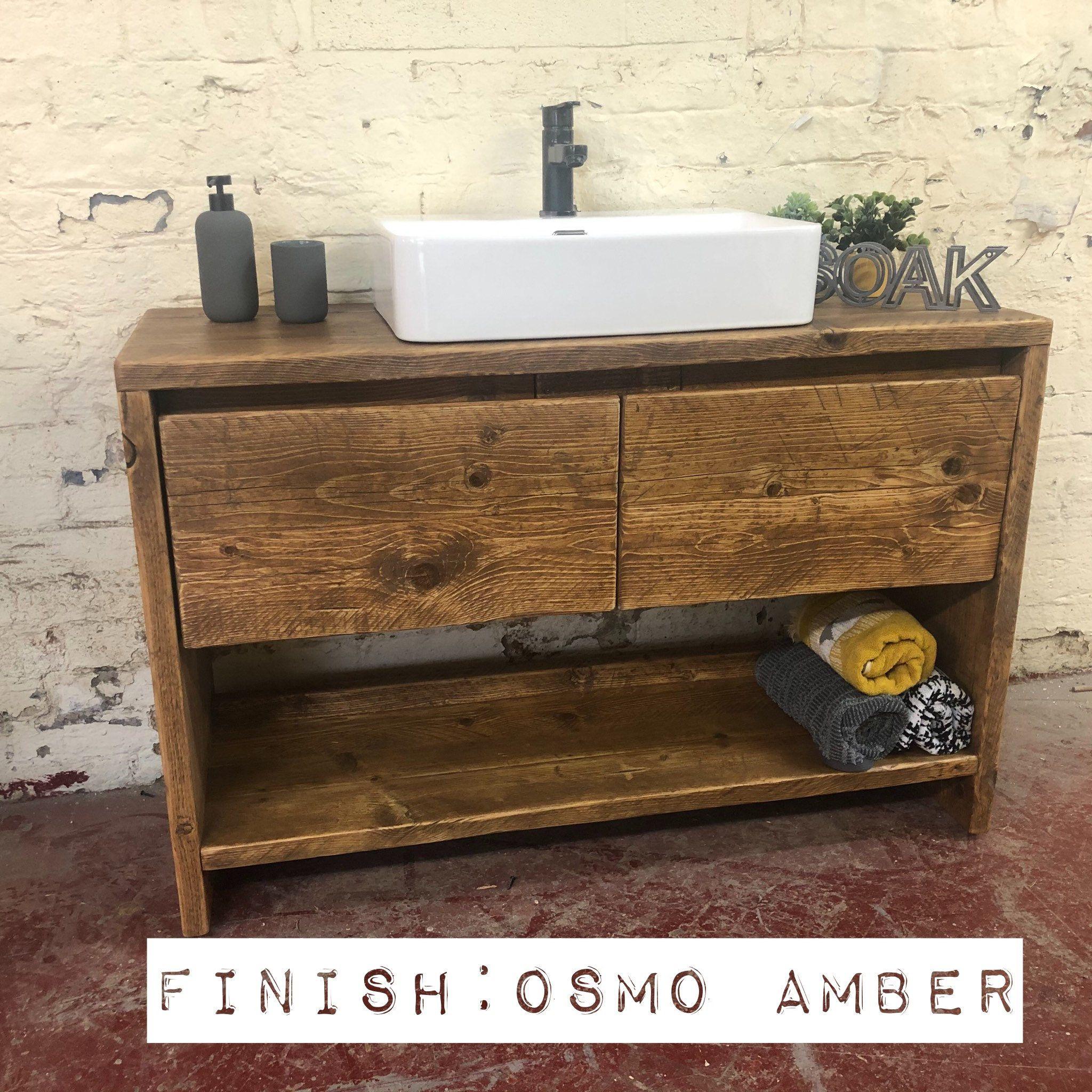 Glasgow Reclaimed Wooden Vanity Unit Wood Bathroom Vanity Cabinet Bathroo In 2020 Reclaimed Wood Bathroom Vanity Wood Bathroom Vanity Wooden Bathroom Vanity