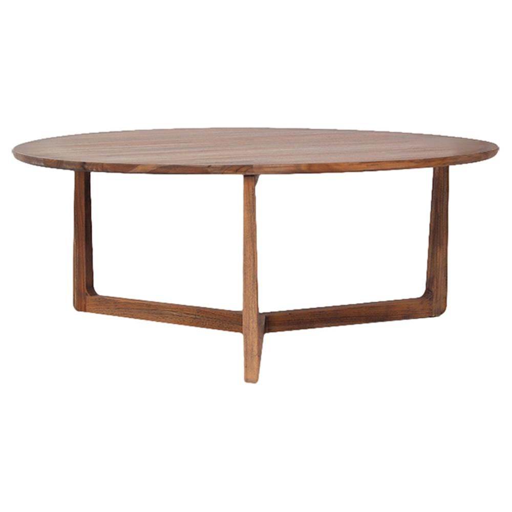 Laura Modern Classic Brown Rustic Teak Wood Round Round Coffee Table Coffee Table Round Wood Coffee Table Round Coffee Table Living Room [ 1000 x 1000 Pixel ]