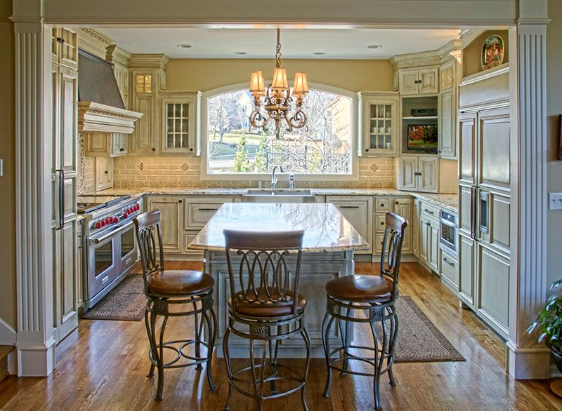 Kitchen with Double Oven and kitchen island - Kitchen Remodel by ...