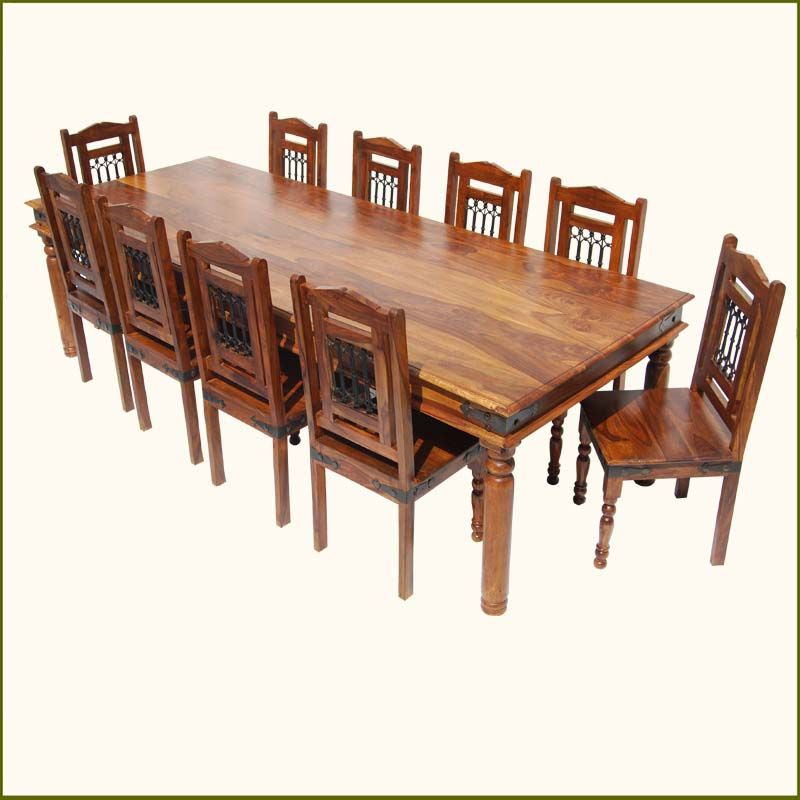 Large Rustic Furniture Dining Table U0026 Chair Set Transitional Style. Seats
