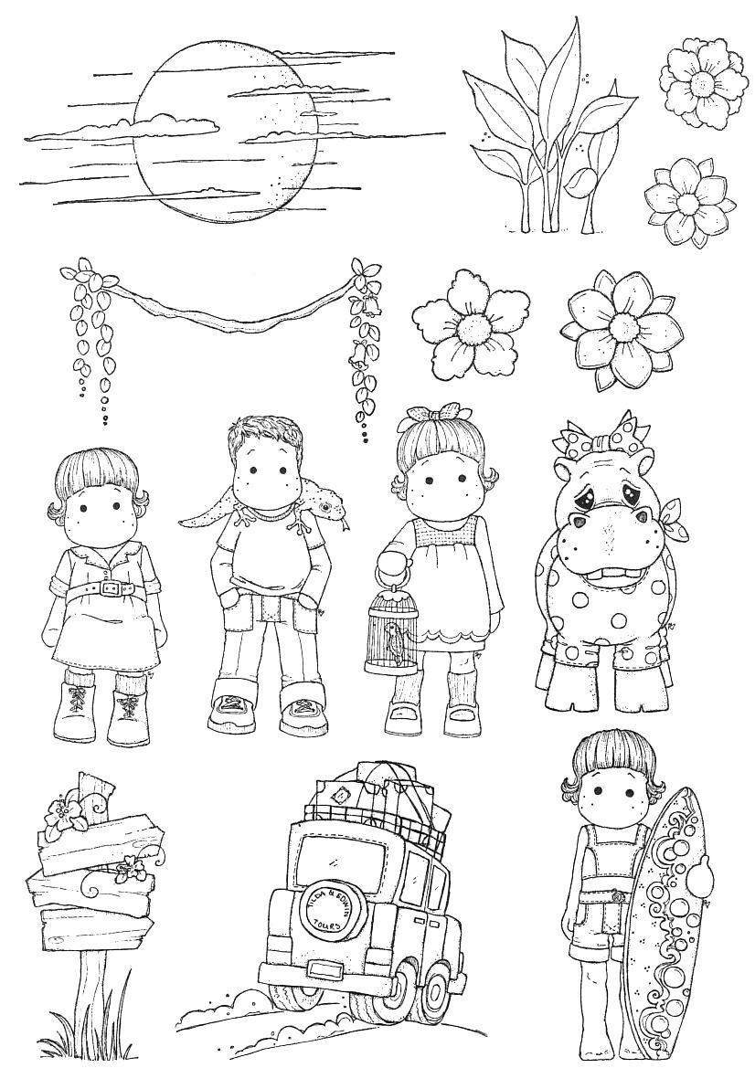 ha5.jpg 826×1,169 pixels | Stamps | Pinterest | Colorear, Magnolias ...
