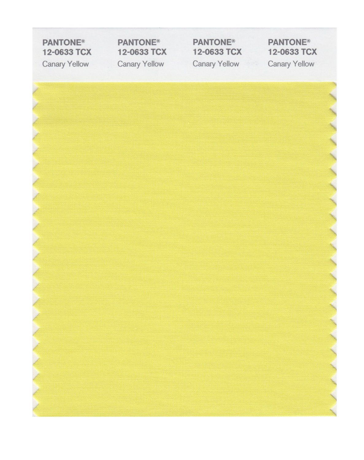 PANTONE SMART 12-0633X Color Swatch Card, Canary Yellow - Wall Decor ...