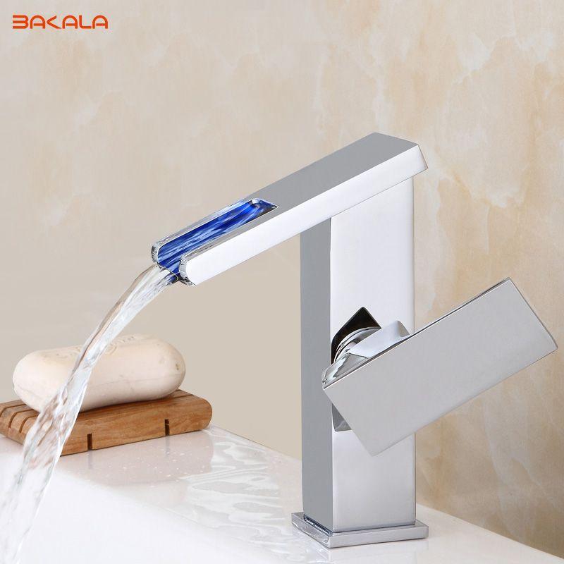 Led Faucet Water Ed Bathroom Basin
