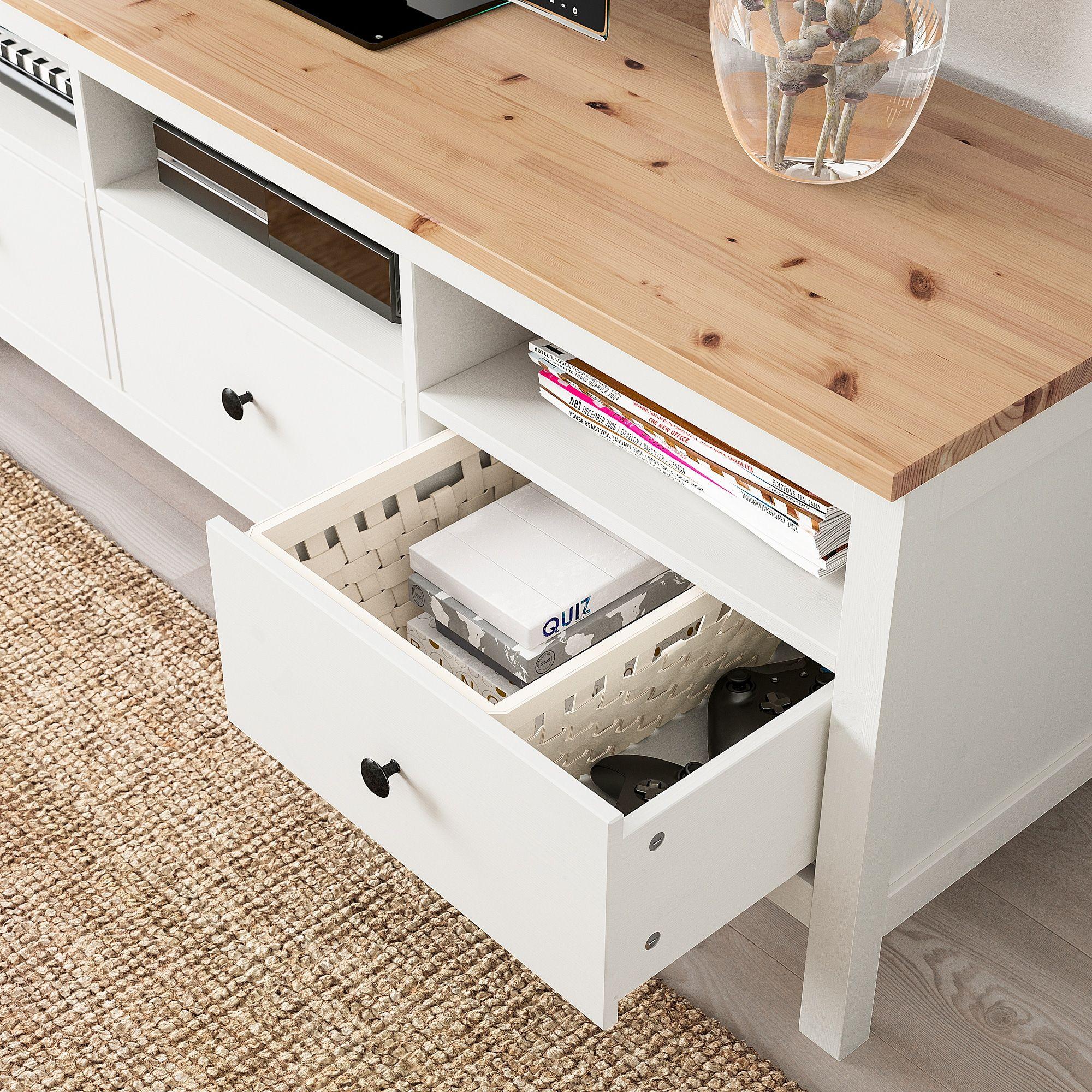 Groot Landelijk Tv Meubel.Us Furniture And Home Furnishings Ikea Tv Stand Hemnes Tv
