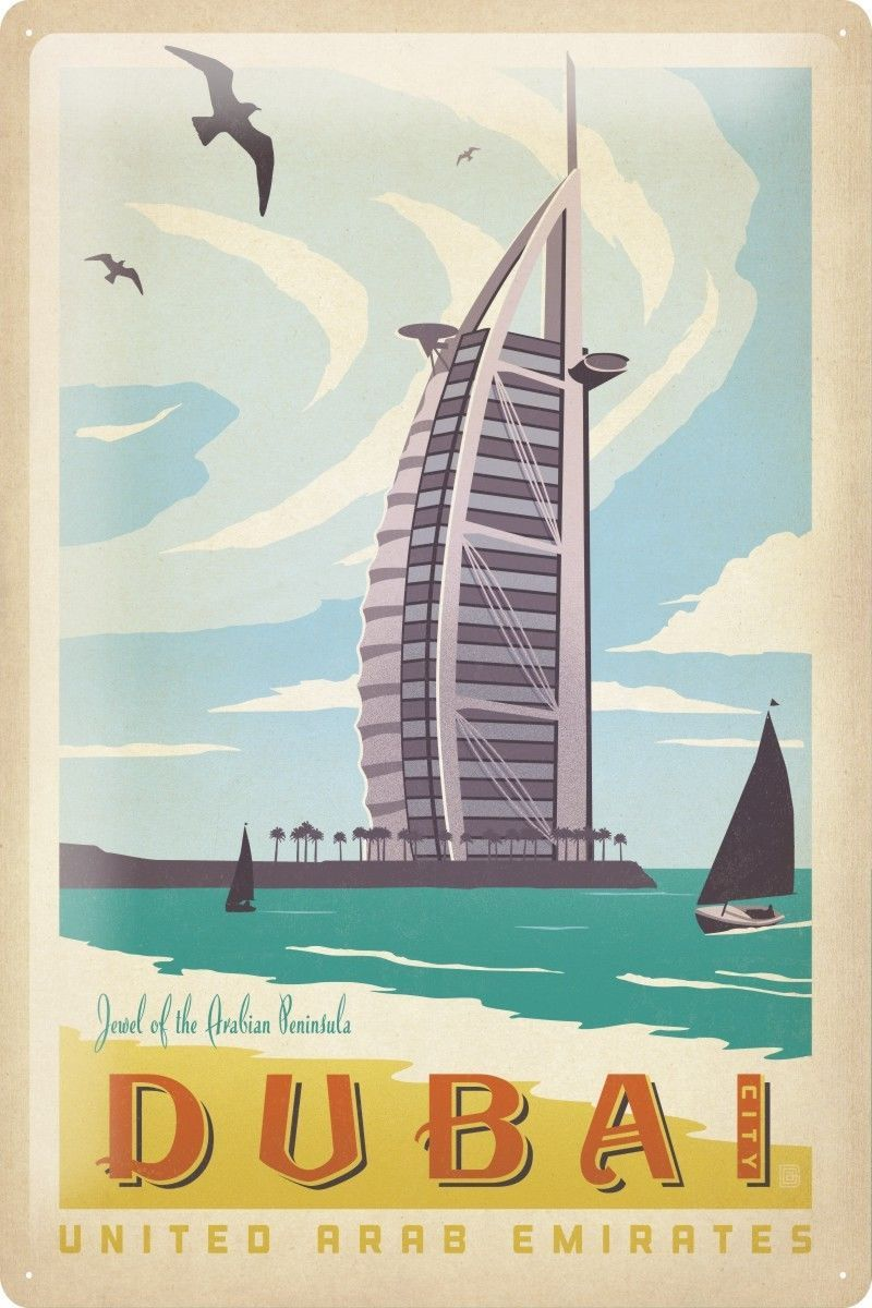 $18 99 AUD - Tin Sign World Tour Dubai United Arab Emirates