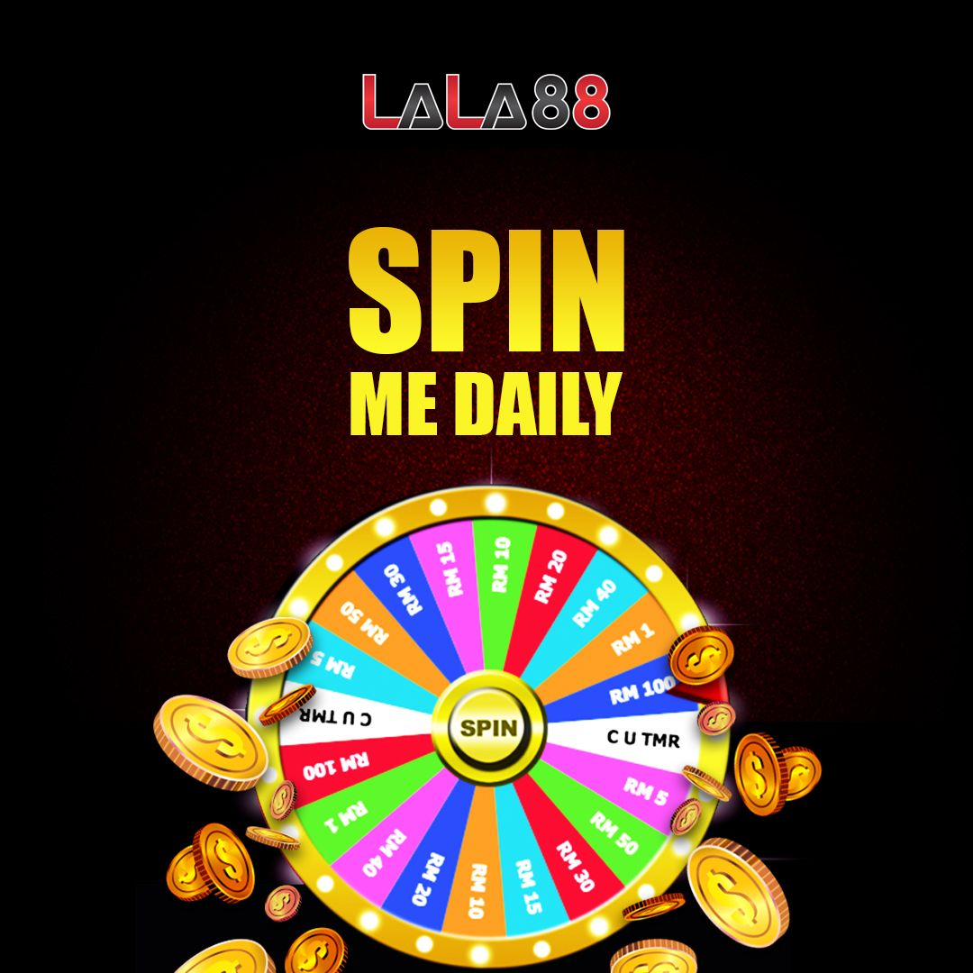 Spin me daily! Get free spin and win the prize when you make