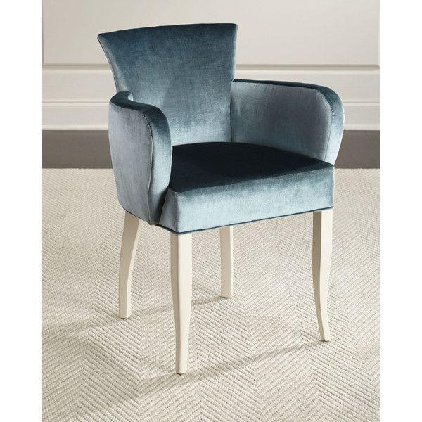 jamie blue velvet accent chair 11 005 cny liked on polyvore rh pinterest co uk  blue velvet hand chair