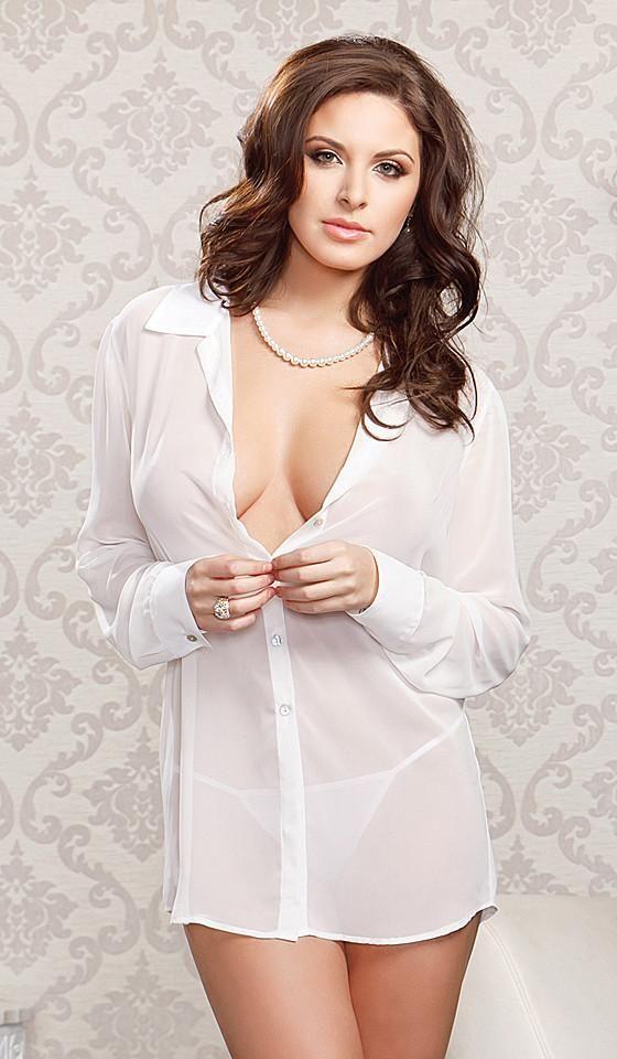 See through top black sheer blouse organza top jacket sexy