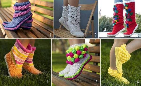 Virkatut kengät | Crochet Clothes and accessories | Pinterest ...
